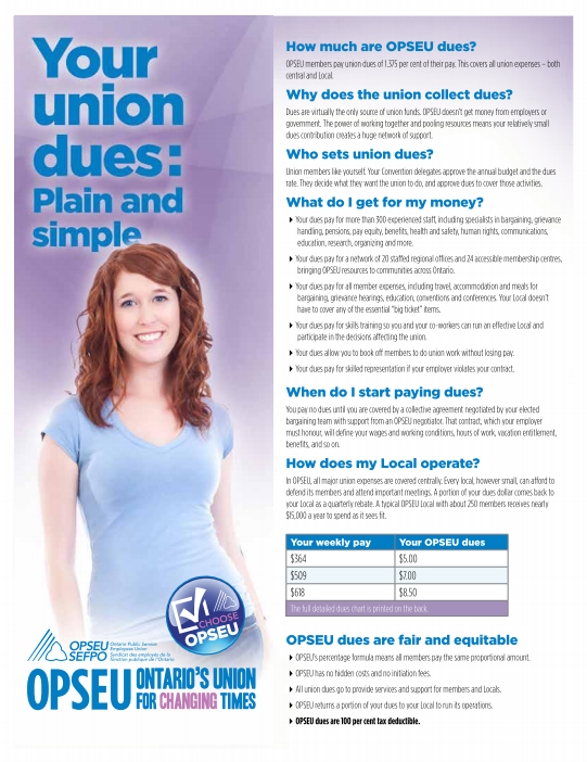 Your union dues: Plain and simple |